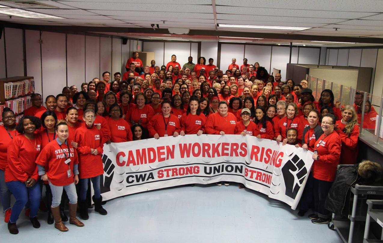 CWA members group picture in Camden, NJ