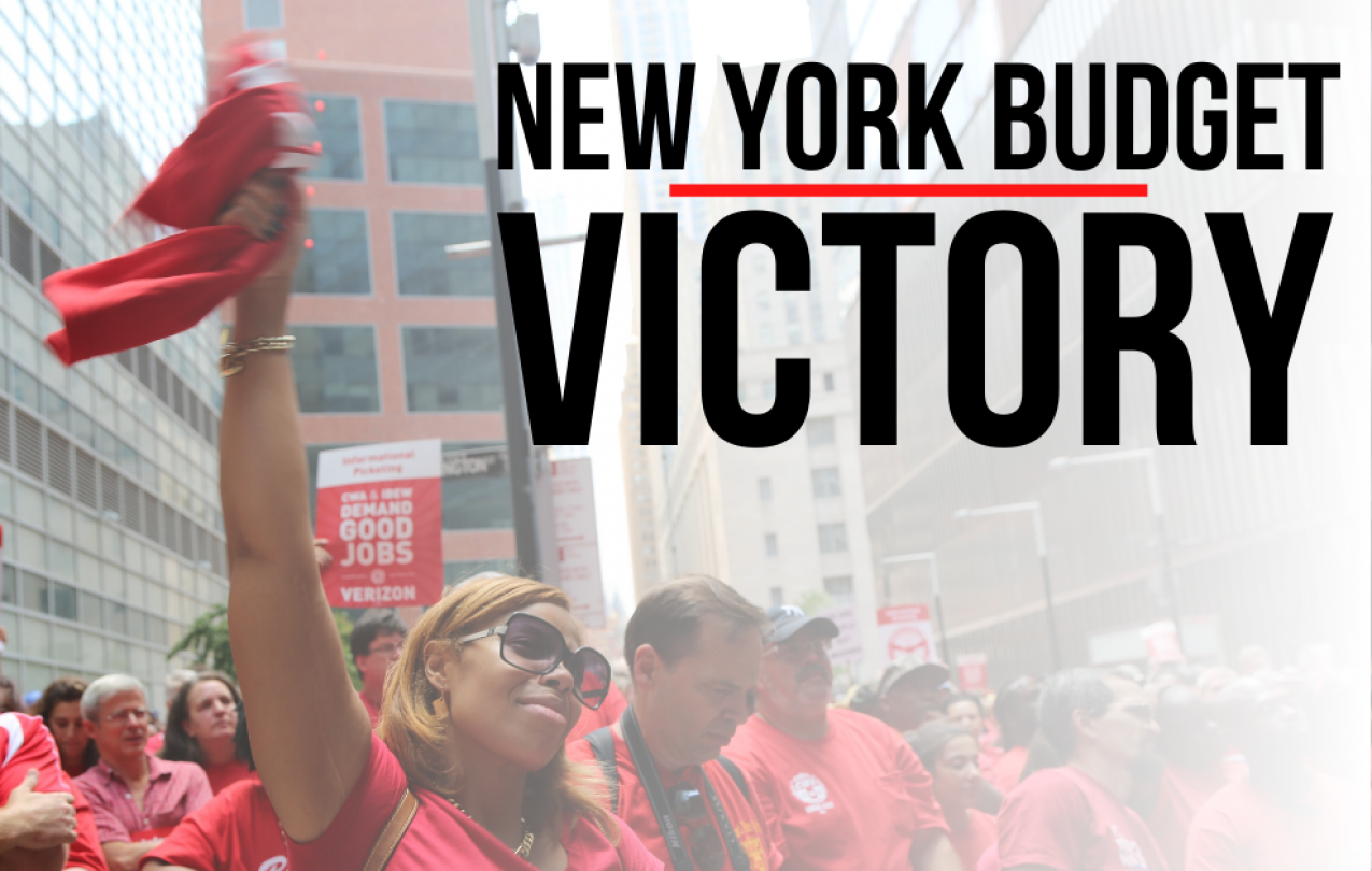 New York State Budget Victory graphic