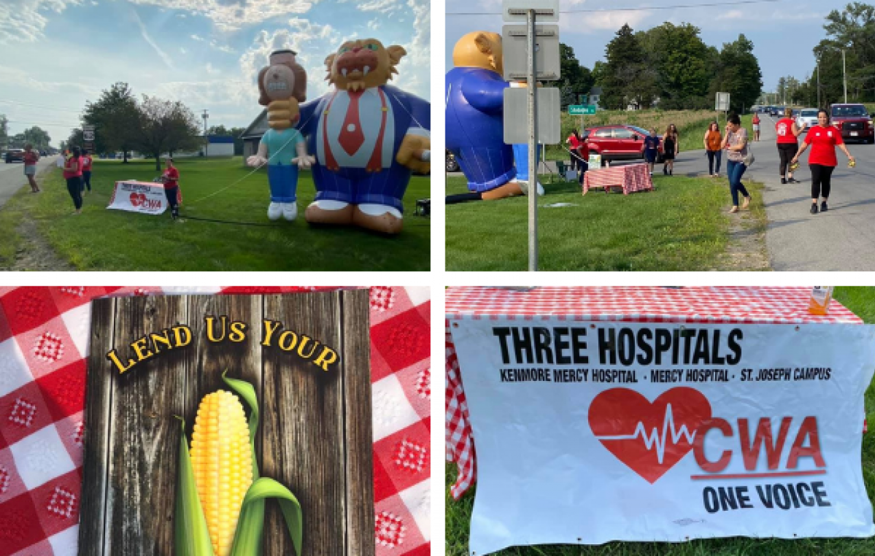 Collage of images of Catholic Health workers at the Eden Corn Festival