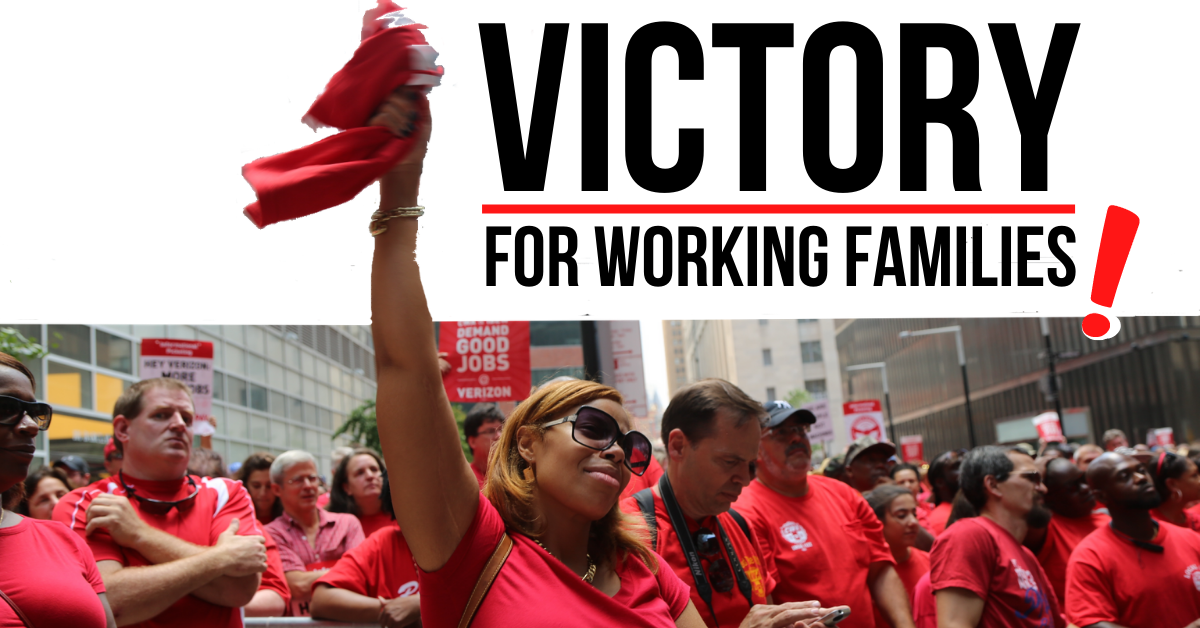 Graphic victory for working families