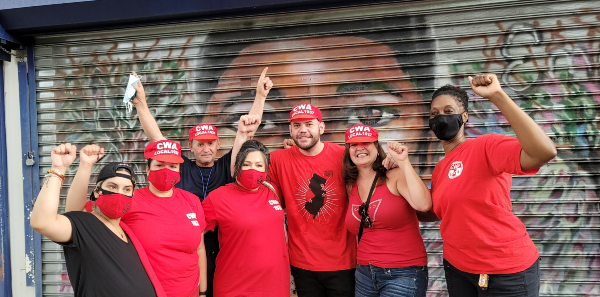 Group picture with CWA Local 1037 members and La Casa De Don Pedro workers