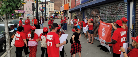 CWA members rally with La Casa De Don Pedro Youth and Family Services Division