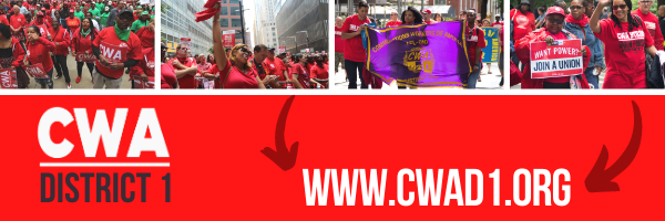 CWA District 1 website graphic with web address and several CWA pictures