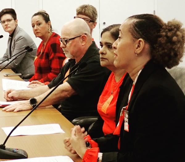 CWA members testify before the New York Department of Health