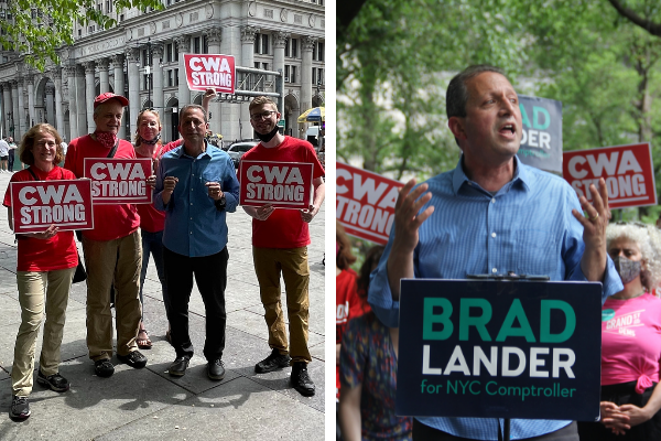 Photos from rally for Brad Lander for NYC Comptroller